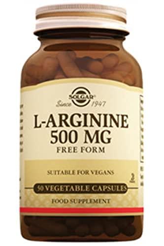 Solgar L-arginina Cápsulas Vegetales De 500 Mg, 50 Unidad, 100 g