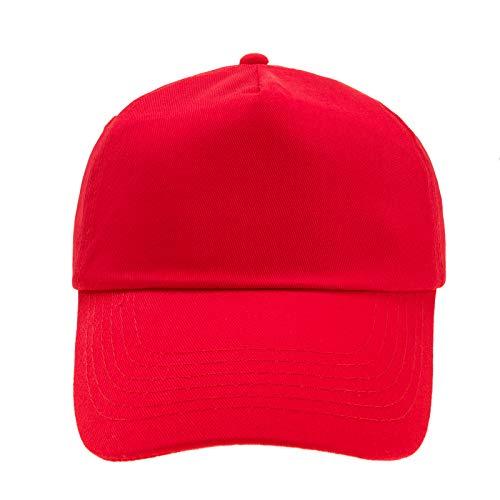 4sold Gorra de béisbol niños y niñas (Rojo Brillante)