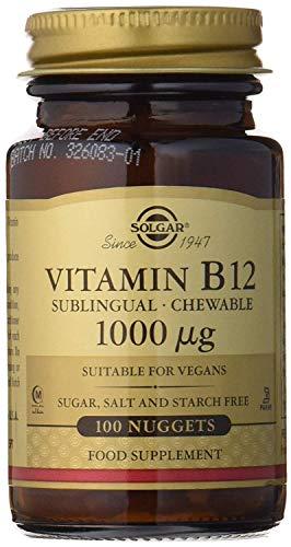 Solgar Vitamina B12, Comprimidos Masticables, Reduce el Cansancio, Ayuda a Liberar la Energía de los Alimentos, Activa la Vitalidad, Apto para Veganos, 100 Unidades