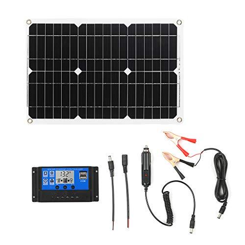 Kecheer Kit de panel solar 18W 12V, Módulo monocristalino fuera de la red,Kits de cable de conexión