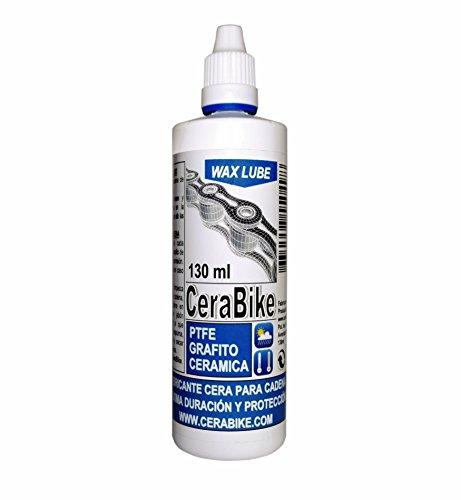CeraBike WAXLUBE. LUBRICANTE Base Cera para Cadena con PTFE, Grafito Y Ceramica (130ML). WWW.CERABIKE.COM