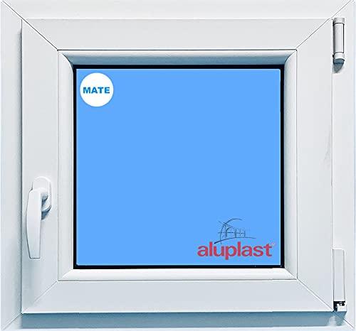 Ventana PVC Baño Oscilobatiente Derecha Climalit Mate, blanco, 500x500mm