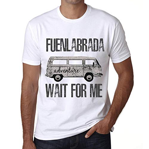 Hombre Camiseta Vintage T-Shirt Gráfico FUENLABRADA Wait For Me Blanco