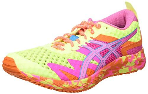 Asics Gel-Noosa Tri 12, Road Running Shoe Mujer, Safety Yellow/Dragon Fruit, 38 EU