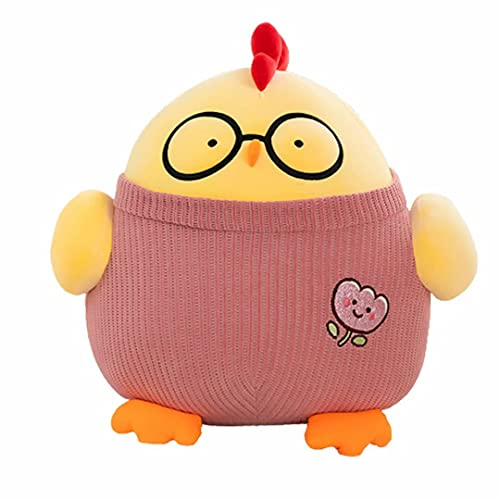 MILsEnse Fatty Doctor Pollo de Peluche de Juguete Relleno de Pollo Redondo Animal Almohada de Felpa muñeca bebé Lindo