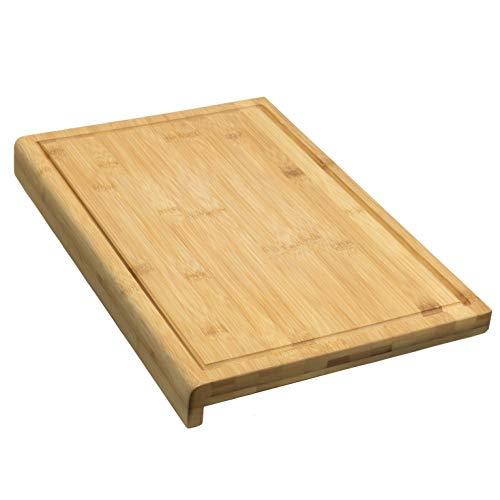 Coninx Tabla de Cortar Trinchar Tabla de Bambú - 45 cm x 30 cm x 2.5 cm Grande y Robusto Cocina - Tabla de Cortar de Madera de bambú con surco