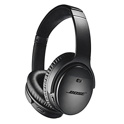 Auriculares Bluetooth con Cancelación de Ruido Bose QuietComfort 35 II: Auriculares externos Inalámbricos con Micrófono Integrado y Control por Voz de Alexa, Negro