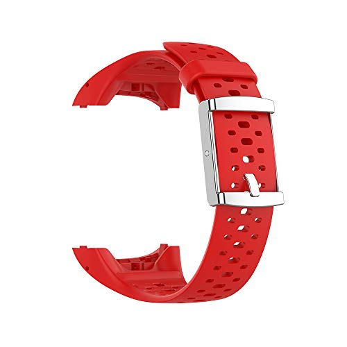 RongYooo WIIKAI Compatible con Polar M400/M430 Correas para Relojes, Correa de Pulsera de Reemplazo.(Rojo)