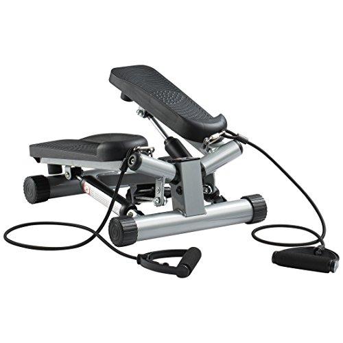 Ultrasport Máquina de step Swing Stepper con cintas de entrenamiento / aparato de entrenamiento Stepper con consola inalámbrica – stepper Up-Down para principiantes y usuarios avanzados, step pequeño
