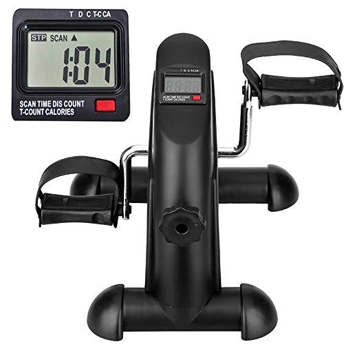 himaly Mini Bicicleta Estática con Pantalla LCD para Entrenamiento de Brazos y Piernas Minibicicleta Ajustable para Hacer, Pedales estaticos