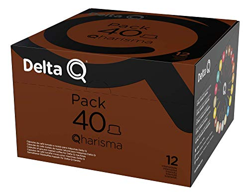 Delta Q - Pack XL Qharisma 40 Cápsulas de Café - Intensidad muy Alta - 40 Cápsulas
