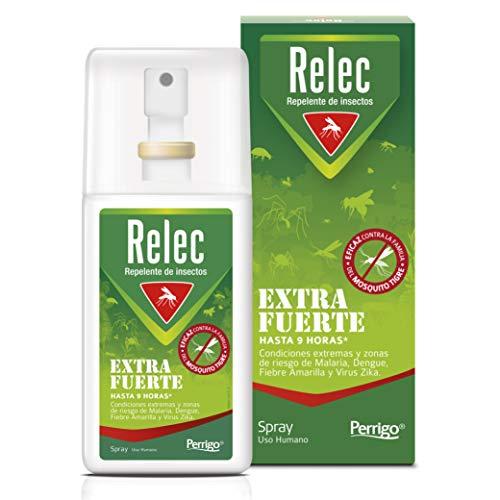 Relec Extra Fuerte Spray Antimosquitos, Repelente de Mosquitos Eficaz contra el mosquito tigre, Desarrollado para evitar las picaduras de mosquitos en severas condiciones climáticas, 75ml