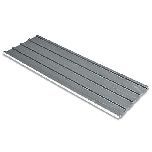 vidaXL 12x Paneles de Tejado de Acero Galvanizado Gris 129x45 cm Placas Techo