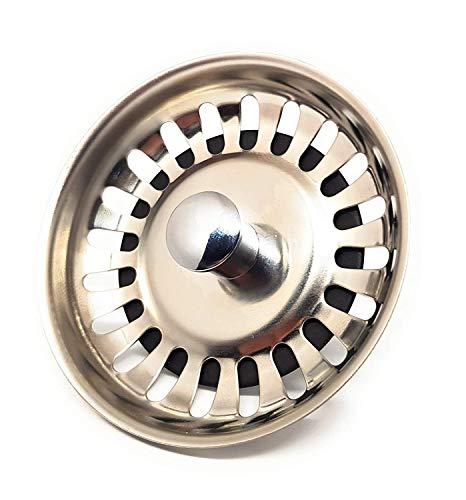 DigitalTech - Colador rejilla universal para fregadero de acero inoxidable. Tapón para desagüe fregadero.