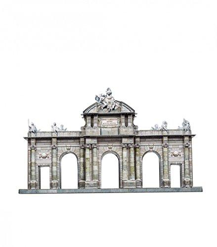 UMBUM Rompecabezas 3D innovador - Puerta de Alcalá, Madrid, España - 9½' x 5¾' x 3¼' 68 piezas - Papel inteligente (353)