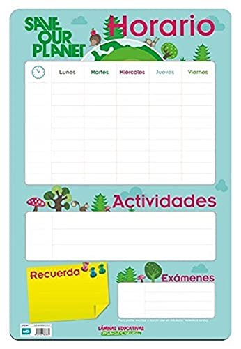Grupo Erik Editores Lamina Educativa Horario Escolar