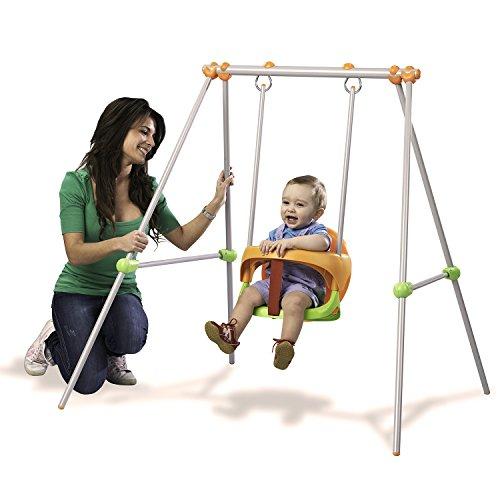 Smoby- Baby Swing Columpio bebé, 120 x 124 x 120 cm (Lysol 310046)