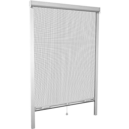 Mosquitera Enrollable para ventanas 160 x 160 cm Blanca