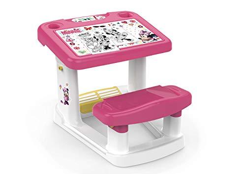Chicos - Minnie Mi Primer Pupitre, Pupitre Infantil, Incluye Láminas de Minnie Mouse, a Partir de 24 Meses, Multicolor, 57.5 X 72.5 X 49 cm
