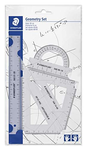 STAEDTLER Mars 569 PB4-0 Set de reglas y transportador para dibujo técnico