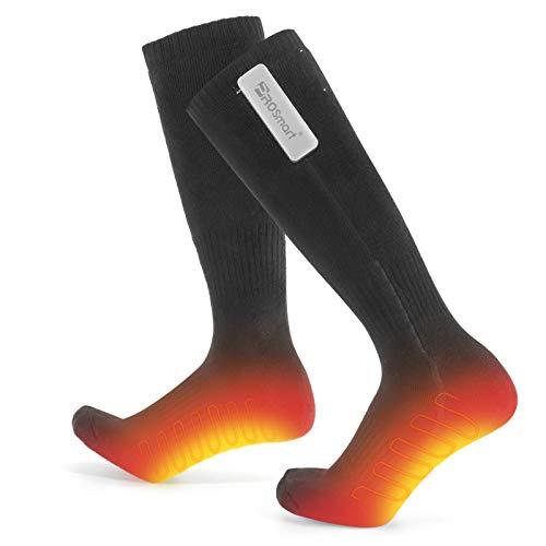 PROSmart Calcetines Calefactables Recargable Calcetines Calefactados con 3 Ajustes De Calefacción, Calcetines Eléctricos Calcetines Térmicos con Batería Tipo C de 4800mAh (Negro, Unisexo)