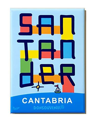 Santander IMAN Souvenir. Modelo MAGNETICO: Santander CANTABRIA ESPAÑA