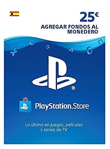 Sony, PlayStation - Tarjeta Prepago PSN 25€ | PS5/PS4/PS3 | Código de descarga PSN - Cuenta española