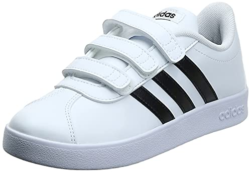 Adidas Vl Court 2.0 Cmf C, Zapatillas de deporte Unisex Niños, Blanco (Ftwr White/Core Black/Ftwr White Ftwr White/Core Black/Ftwr White), 33