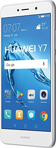 Huawei Y7 SIM Doble 4G 16GB Plata, Color Blanco - Smartphone (14 cm (5.5'), 1280 x 720 Pixeles, Plana, 16:9, Multi-Touch, Capacitiva)