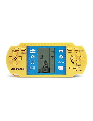 CZT Retro PSP Portable ladrilloHandheld ladrillo Kids Electronic Brick Juegos Juguetes Built-in 23 Juegos 2 Pilas AAA se utilizan por más de 1 Mes Buen Regalo para los niños (Yellow)