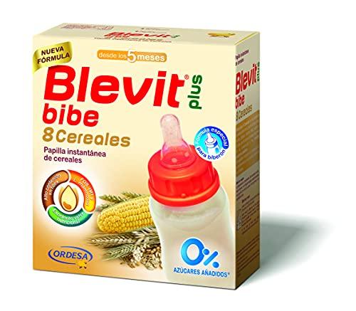 Blevit Plus Bibe 8 Cereales - Papilla de Cereales para Bebé fórmula especial para Biberón - Sin Azúcares Añadidos - Desde los 5 meses - 600g