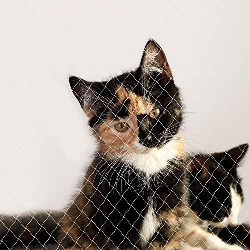 lionto by dibea Red para gatos red de seguridad balcón red de protección gatos (S) 3x4 m