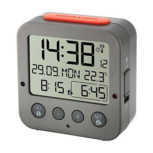 TFA Radio-reloj despertador 'BINGO' 60.2528.10 anthracite