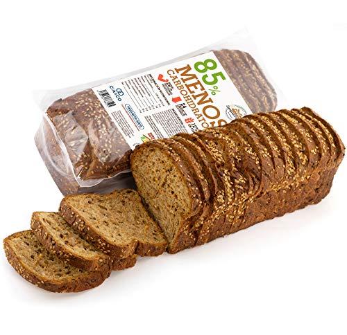 Pan Proteico SiempreTierno XXL 500 grs · Pan Keto Proteinado Bajo en Carbohidratos · 28% de Proteínas · Ideal dietas Hipocalóricas y Altas en Proteínas KETO · Dura hasta 88 días sin frio.