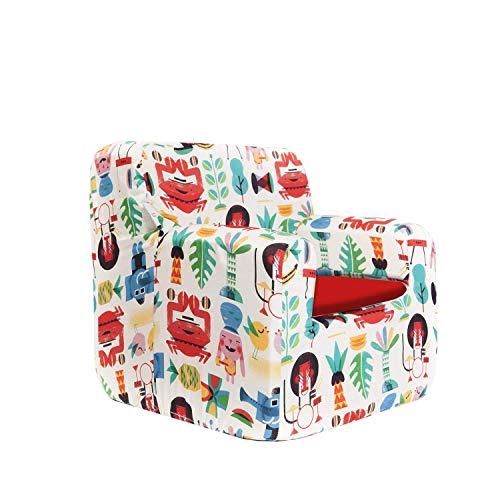 SLEEPAA Sillon bebe 1-4 años Desenfundable Lavable Resistente Seguro Ligero Cómodo Decoracion muebles niños Fabricado en España 40x40x42 cm (Jungle Rock)