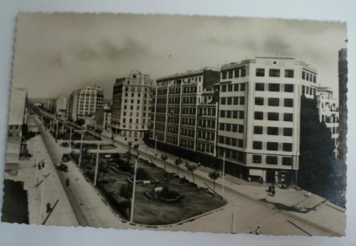 Antigua postal fotográfica. Old photo post card. Nº 109 - VALENCIA - Gran Vía de Ramón y Cajal