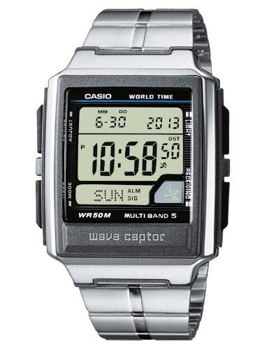 Casio WAVE CEPTOR Reloj Radiocontrolado, Caja de acero inoxidable y resina, Negro, para Hombre, con Correa de Acero inoxidable, WV-59DE-1AVEG