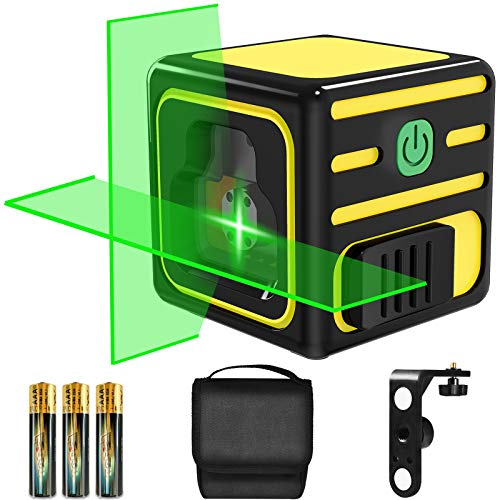 Nivel Láser, papasbox 15M Nivelador Láser Horizontal y Vertical, Nivel Laser Autonivelante con Soporte Giratorio Magnético 360° Rotación, Bolsa Portáti y 3 Pilas Incluidas - IP54
