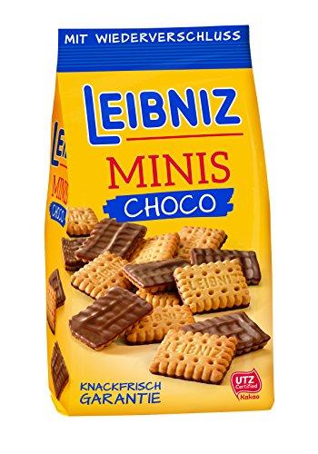 Leibniz - Crujientes galletas en chocolate con leche - bolsa 125 g - Pack de 8 unidades