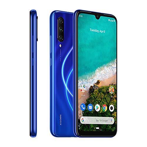Xiaomi Mi A3 Smartphones 4 GB RAM + 128 GB ROM, Pantalla de 6.088', Procesador Octa-Core, 32 MP Frontal y 48 MP AI Triple Cámara, Color Azul (Otra version Europea)