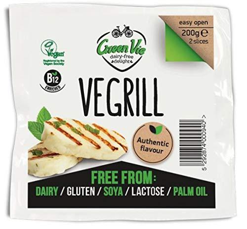 GreenVie Vegalloumi Vegano Halloumi Queso Alternativa 200g (Pack de 4)