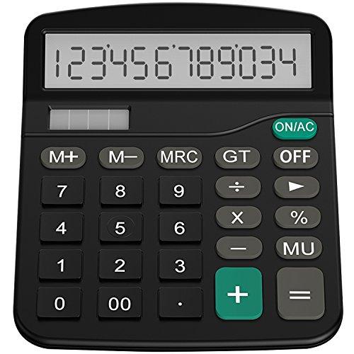 Helect H1001- Calculadora Básica, Energía Solar, Negro