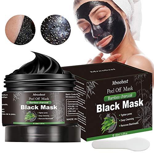 Blackhead Remover Mask, Mascarilla Exfoliante, Mascarilla negra, Peel Off Mask, Deep Cleansing Mascarilla Exfoliante Limpiadora contra Puntos Negros y Acné para, Mascarillas Hidratantes