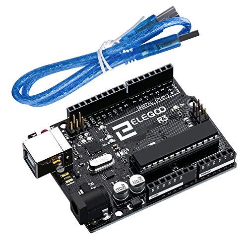 ELEGOO Mega de 2560 UNO R3 Tarjeta Placa con Cable USB y Microcontrolador Compatible con Arduino IDE Proyectos Cumple con RoHS