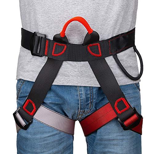 Linkax Arnés de Escalada,Cinturones de Seguridad Equipo Escalada,Ajustable Equipos Anticaídas para Alpinismo, Salvamento en Alta montaña, expedición, Escalada en Roca