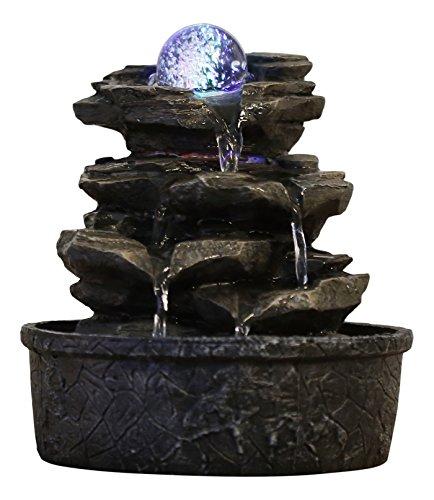 Zen'Light Little Rock Brunnen aus Polyresin, dunkelbraun, 20 & nbsp; x 20 & nbsp; x 23 & nbsp; cm