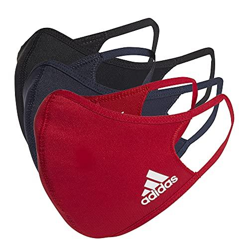 adidas Face Cover BOS Accesorios, Adultos Unisex, Negro/Tinley/Rojpot (Multicolor), M
