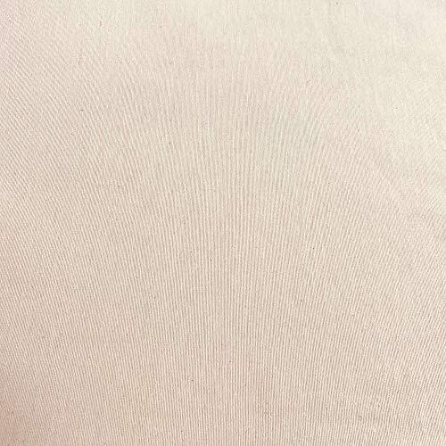Kt KILOtela Tela de loneta Lisa - Algodón, poliéster - Solidez a la luz: 5-6 - Retal de 100 cm Largo x 280 cm Ancho | Crudo