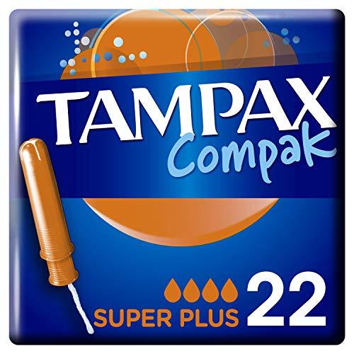 Tampax Compak Super Plus Tampones Con Aplicador, Protección Antimanchas Y Discreción, Siéntete Limpia - 22 Unidades
