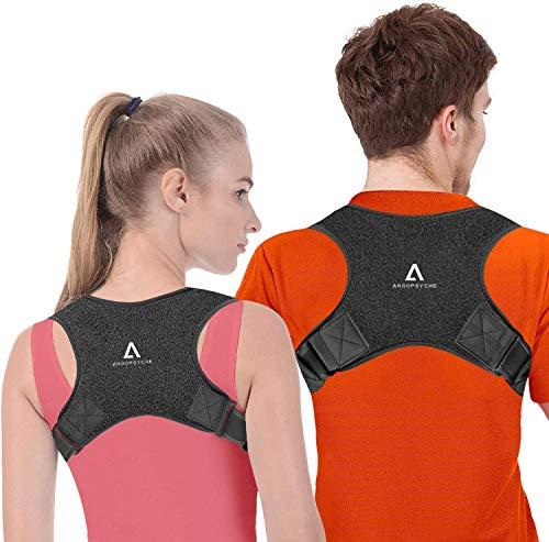 Anoopsyche Corrector de Postura Corrector Espalda Soporte Ajustable para Postura de Espalda Transpirable Corrección Postural Aliviar el Dolor para Mujeres y Hombres (2X Soportes para hombreras)